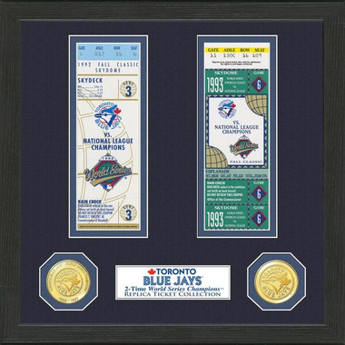 Highland Mint Toronto Blue Jays Framed World Series Replica Ticket Collection