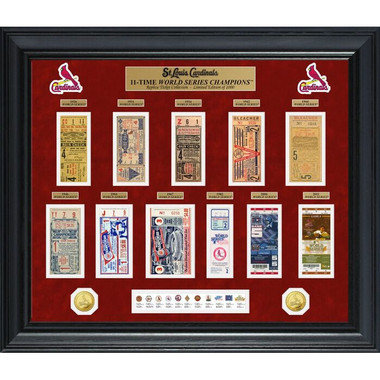 Highland Mint St. Louis Cardinals World Series Deluxe Framed Gold Coin & Replica Ticket Collection