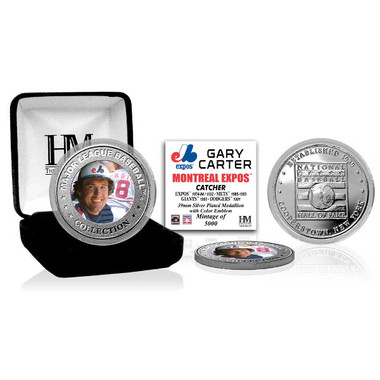 Highland Mint Gary Carter Montreal Expos Hall of Fame Silver Photo Coin