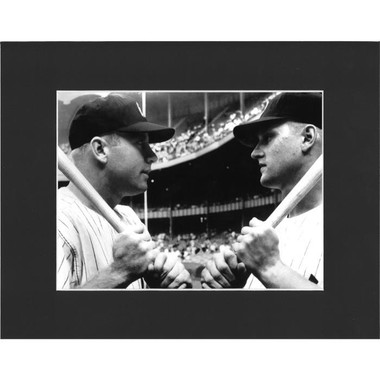 Matted 8x10 Photo- Roger Maris & Mickey Mantle