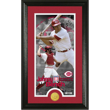 Highland Mint Johnny Bench Cincinnati Reds Supreme Bronze Coin Photo Mint