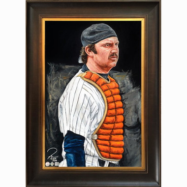 Thurman Munson 'Legacy Lives On' Framed 24 x 36 Canvas Giclee - Limited Edition of 99  (Justyn Farano)