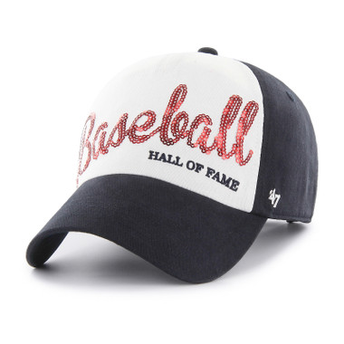 Women's Baseball Hall of Fame Sparkle Script Adjustable Cap