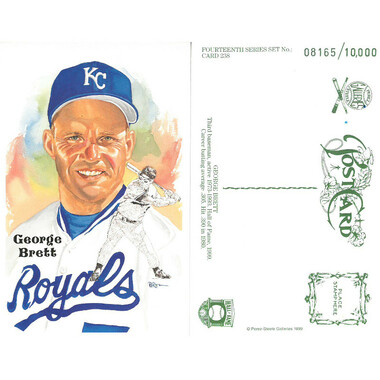 Perez-Steele George Brett Limited Edition Postcard