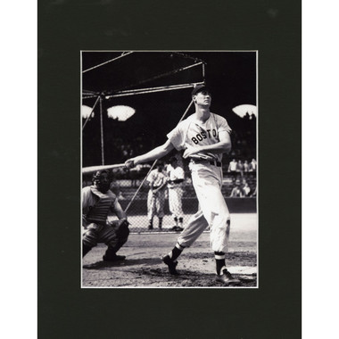 Matted 8x10 Photo- Ted Williams