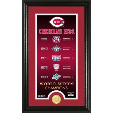 Highland Mint Cincinnati Reds Legacy Supreme Bronze Coin 12 x 20 Photo Mint