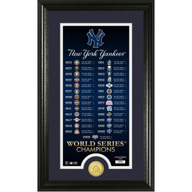 Highland Mint New York Yankees Legacy Supreme Bronze Coin 12 x 20 Photo Mint
