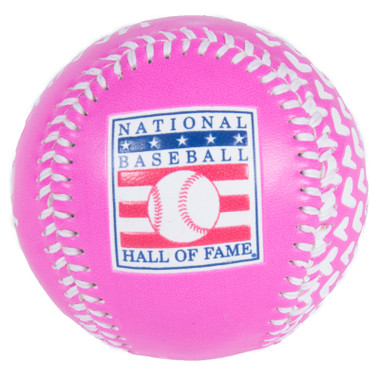 Baseball Hall of Fame Pink All Over Hearts Replica Baseball