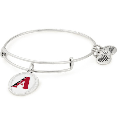 Alex & Ani Arizona Diamondbacks MLB Color Infusion Charm Bangle in Rafaelain Silver Finish