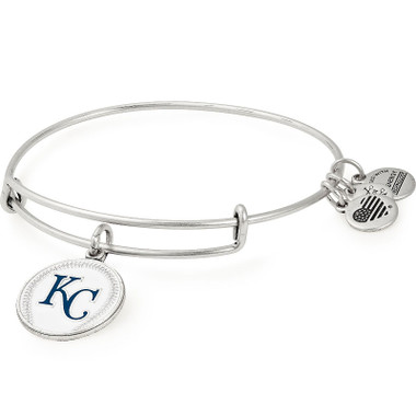 Alex & Ani Kansas City Royals MLB Color Infusion Charm Bangle in Rafaelain Silver Finish