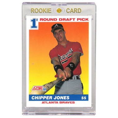 Chipper Jones Atlanta Braves 1991 Score # 671 Rookie Card