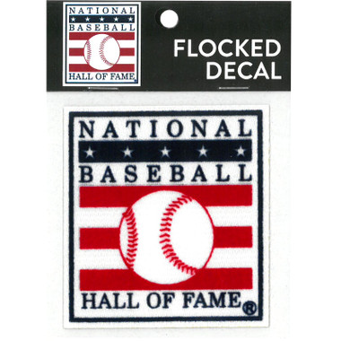 Baseball Hall of Fame Flocked Decal