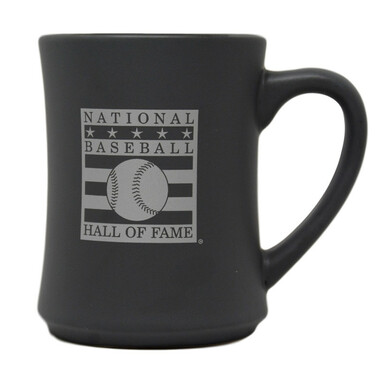 Baseball Hall of Fame Silver Logo Gray Mug