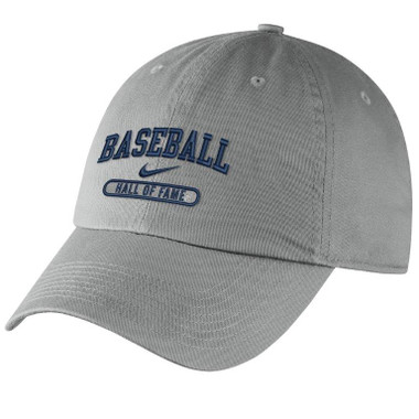 Men's Nike Baseball Hall of Fame Navy Campus Grey Bullet Adjustable Cap