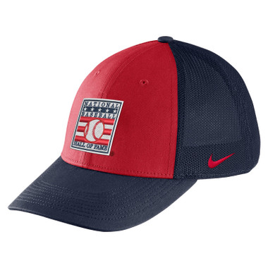 Youth Nike Baseball Hall of Fame Navy with Red Aero Mesh Swoosh Flex Fit Cap