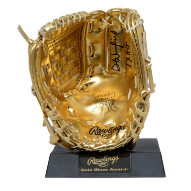 Dave Winfield Autographed Rawlings Mini Gold Glove Award With Inscription (MAB)