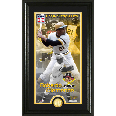 Highland Mint Roberto Clemente Pittsburgh Pirates Supreme Bronze Coin Photo Mint