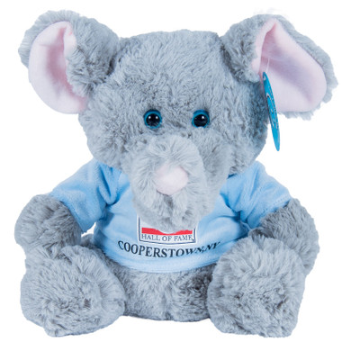 "Baseball Hall of Fame 13"" Plush Elephant with Light Blue HOF T-Shirt"