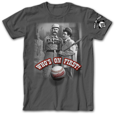 Abbott and Costello's Who's On First? Dark Gray T-Shirt