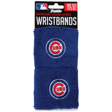 "Franklin Sports Chicago Cubs Pair of 2.5"" Wristbands"