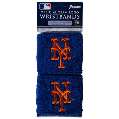 "Franklin Sports New York Mets Pair of 2.5"" Wristbands"