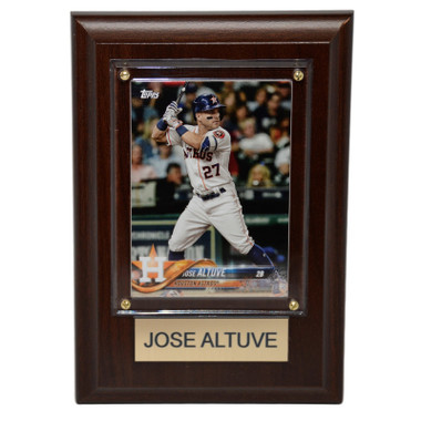 "Jose Altuve Houston Astros 4"" x 6"" Baseball Card Plaque"