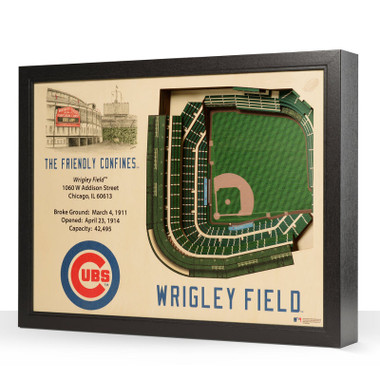 Chicago Cubs 25 Layer 25 x 19 StadiumViews 3D Wall Art