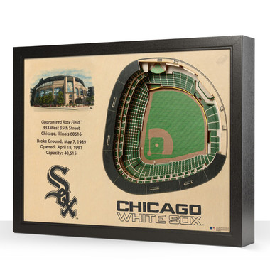 Chicago White Sox 25 Layer 25 x 19 StadiumViews 3D Wall Art