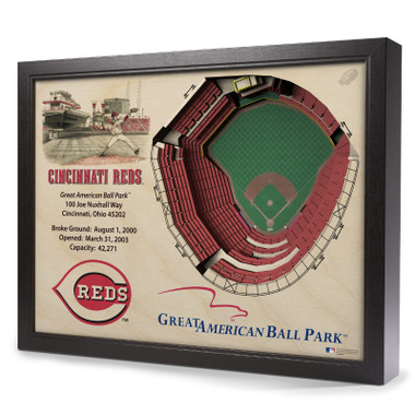 Cincinnati Reds 25 Layer 25 x 19 StadiumViews 3D Wall Art