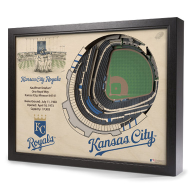 Kansas City Royals 25 Layer 25 x 19 StadiumViews 3D Wall Art