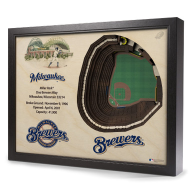 Milwaukee Brewers 25 Layer 25 x 19 StadiumViews 3D Wall Art