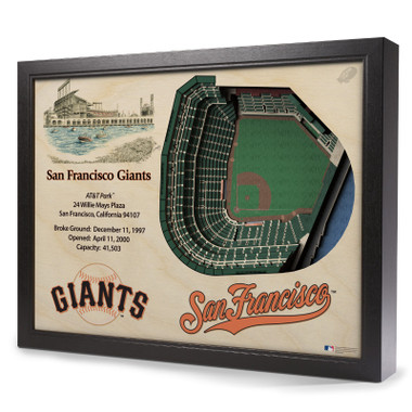 San Francisco Giants 25 Layer 25 x 19 StadiumViews 3D Wall Art