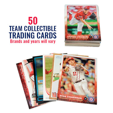Washington Nationals 50 Card Team Baseball Card Lot