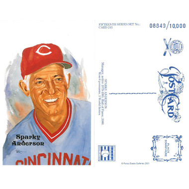 Perez-Steele Sparky Anderson Limited Edition Postcard