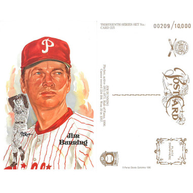 Perez-Steele Jim Bunning Limited Edition Postcard