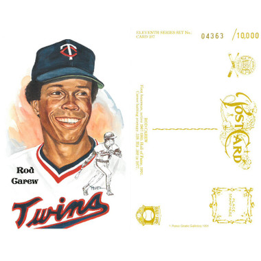 Perez-Steele Rod Carew Limited Edition Postcard