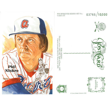 Perez-Steele Phil Niekro Limited Edition Postcard