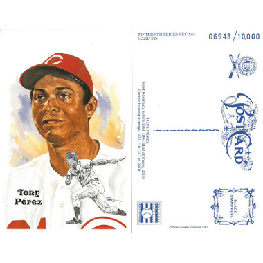 Perez-Steele Tony Perez Limited Edition Postcard