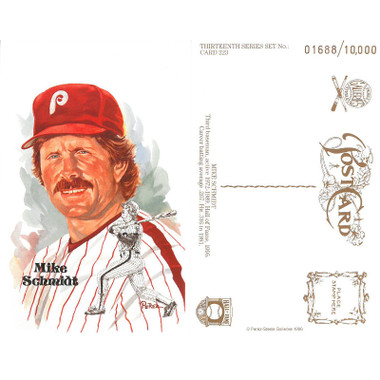 Perez-Steele Mike Schmidt Limited Edition Postcard