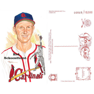 Perez-Steele Red Schoendienst Limited Edition Postcard
