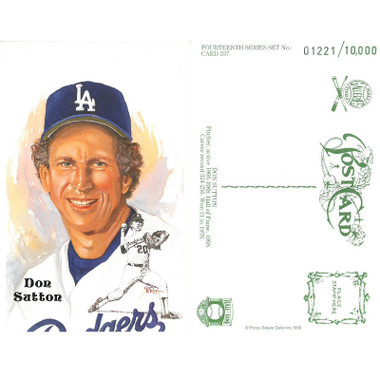 Perez-Steele Don Sutton Limited Edition Postcard
