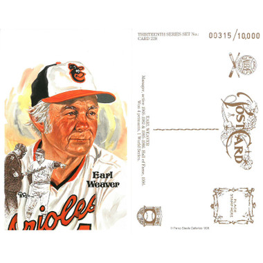 Perez-Steele Earl Weaver Limited Edition Postcard