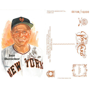Perez-Steele Leo Durocher Limited Edition Postcard