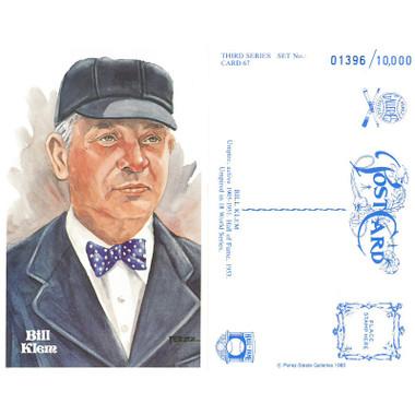 Perez-Steele Bill Klem Limited Edition Postcard