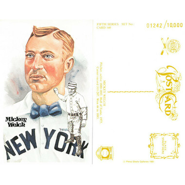 Perez-Steele Mickey Welch Limited Edition Postcard