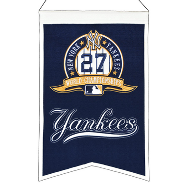 Winning Streak New York Yankees World Series Champions Banner