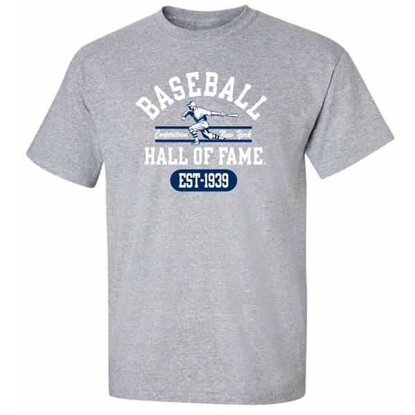 Men's Baseball Hall of Fame Gray State Champ T-Shirt