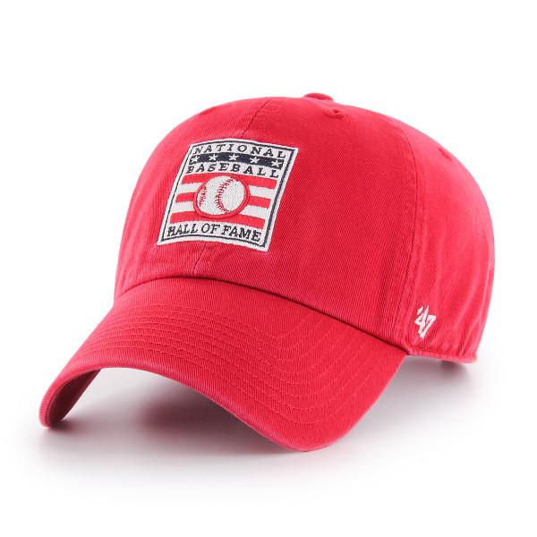 Men's Baseball Hall of Fame Red Logo Clean Up Adjustable Cap