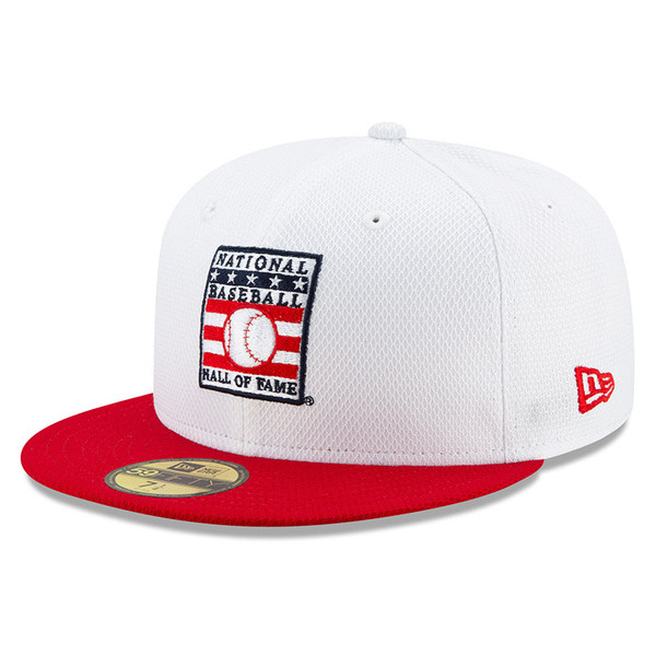 Men's New Era Baseball Hall of Fame White/Red Diamond Era 59FIFTY Fitted Cap