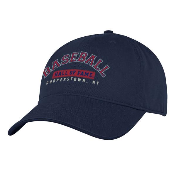 Men's Baseball Hall of Fame Navy Wordmark Adjustable Cap